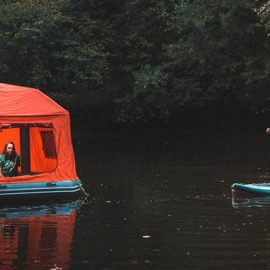 Sleep on the Water in a Floating Tent